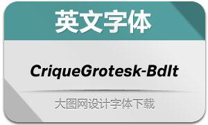 CriqueGrotesk-BdIt(英文字体)