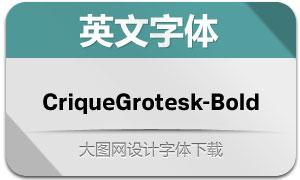 CriqueGrotesk-Bold(英文字体)