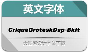 CriqueGroteskDsp-BkIt(英文字体)