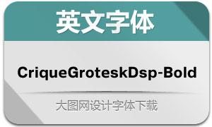 CriqueGroteskDsp-Bold(英文字体)