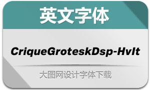 CriqueGroteskDsp-HvIt(英文字体)