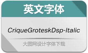 CriqueGroteskDsp-Italic(字体)