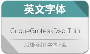 CriqueGroteskDsp-Thin(字体)
