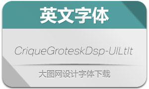 CriqueGroteskDsp-UlLtIt(字体)