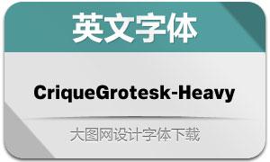 CriqueGrotesk-Heavy(字体)