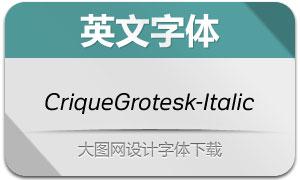 CriqueGrotesk-Italic(英文字体)