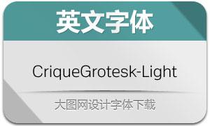 CriqueGrotesk-Light(英文字体)