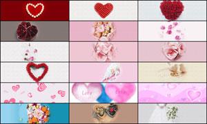 25款淘宝情人节轮播图广告背景图片