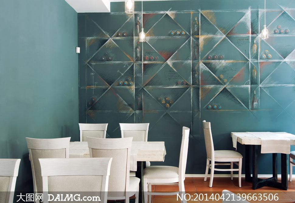 餐厅一角桌椅布局摆设摄影高清图片 - 大图网设计素材