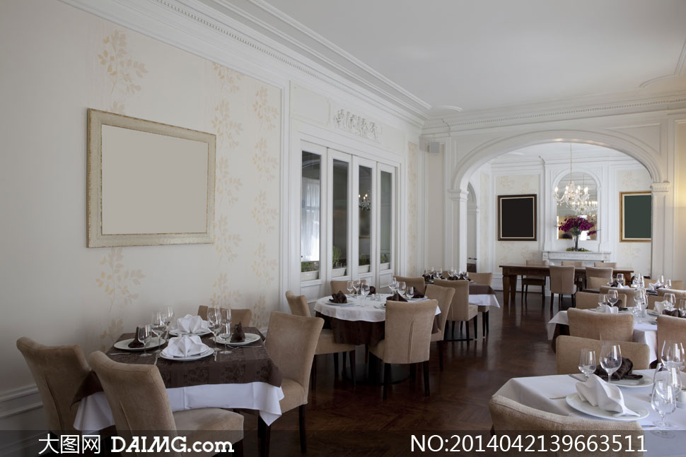 高清摄影大图图片素材室内内景餐厅餐馆饭店