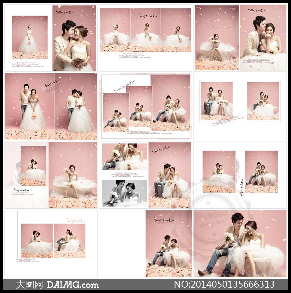 婚纱照排版设计模板 婚纱相册排版设计欣赏婚纱照图片