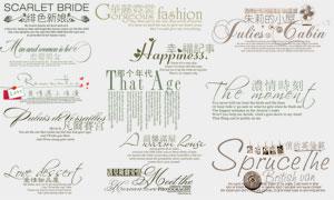 影楼婚纱写真主题装饰分层文字模板
