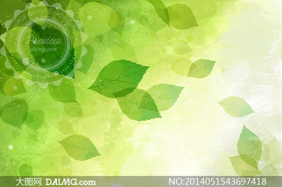 韩国手绘小清新边框绿色