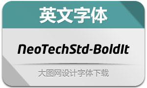 NeoTechStd-BoldItalic(英文字体)