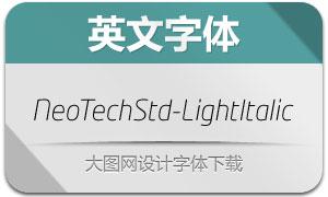 NeoTechStd-LightItalic(英文字体)