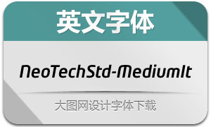 NeoTechStd-MediumItalic(字体)