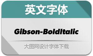 Gibson-BoldItalic(英文字体)