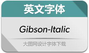 Gibson-Italic(英文字体)