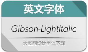 Gibson-LightItalic(英文字体)