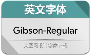 Gibson-Regular(英文字体)
