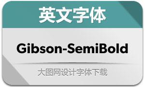 Gibson-SemiBold(英文字体)