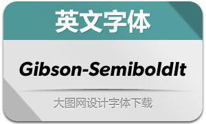 Gibson-SemiboldIt(英文字体)