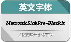 MetronicSlabPro-BlackIt(字体)