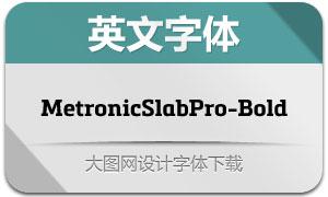 MetronicSlabPro-Bold(英文字体)