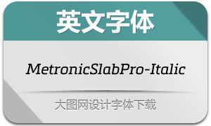 MetronicSlabPro-RegularIt(字体)