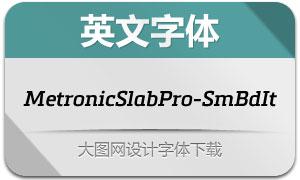MetronicSlabPro-SmBdIt(字体)