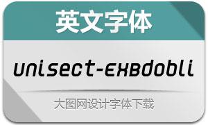 Unisect-ExBdObli(英文字体)