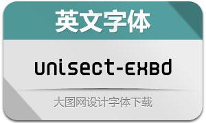 Unisect-ExtraBold(英文字体)