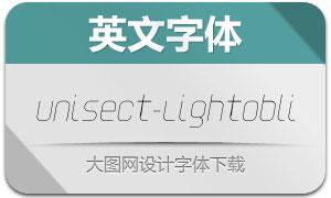 Unisect-LightOblique(英文字体)