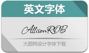 AllisonROB(英文字体)