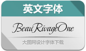 BeauRivageOne(英文字体)