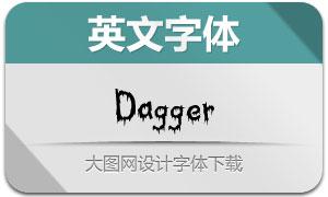 Dagger(创意设计英文字体)