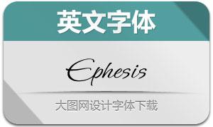 Ephesis(英文字体)