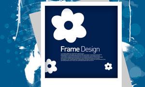 花朵与照片边框效果等PSD分层素材
