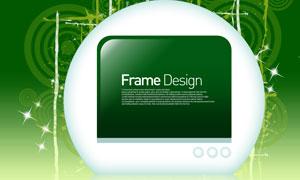 圆形元素与绿色边框等PSD分层素材