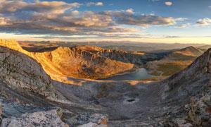 苏米特湖日出全景图摄影图片
