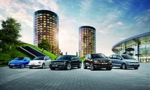 进口大众全家福汽车广告设计图片