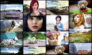 数码照片转复古效果和绚丽效果动作