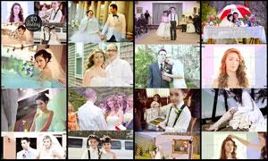 婚纱照片复古艺术效果调色动作
