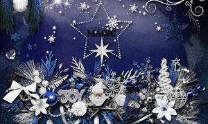 吊球缎带等圣诞节主题欧美剪贴素材