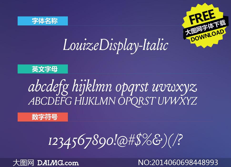 LouizeDisplay-Italic(英文字体)