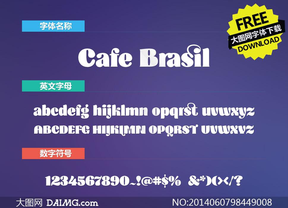 CafeBrasil(英文字体)