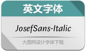 JosefSans-Italic(英文字体)