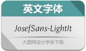 JosefSans-LightItalic(英文字体)