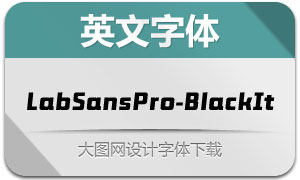 LabSansPro-BlackItalic(字体)