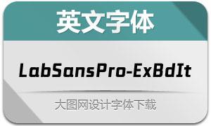 LabSansPro-ExBdIt(英文字体)